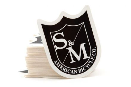 S&M Small Shield Stickers Black/White (100 Pack)